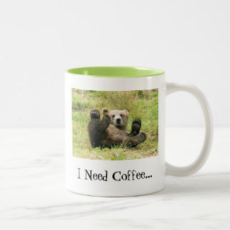 Bear/ I Need Coffee... Mug