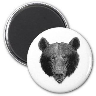 Bear Illustration 2 Inch Round Magnet