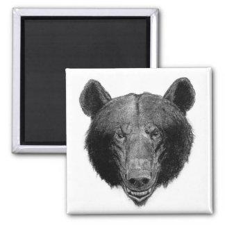 Bear Illustration 2 Inch Square Magnet