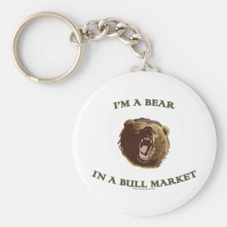 Bear in a Bull Market Keychain