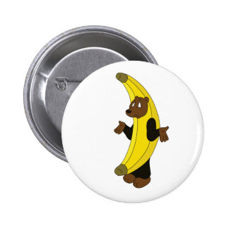 Bear in Banana Suit Pinback Button