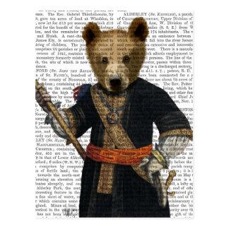 Bear in Blue Robes 2 Postcard