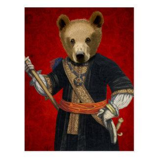 Bear in Blue Robes 3 Postcard