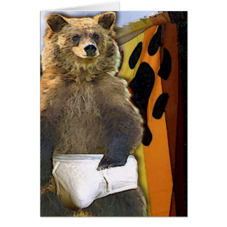 Bear In Briefs, Literally Greeting Card