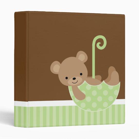 Bear in Green Umbrella Photo Book Binder