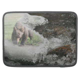 Bear in Icy River Sleeve For MacBooks