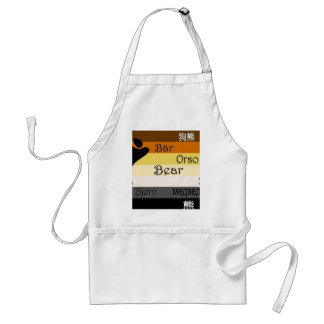 Bear in Many Languages Adult Apron