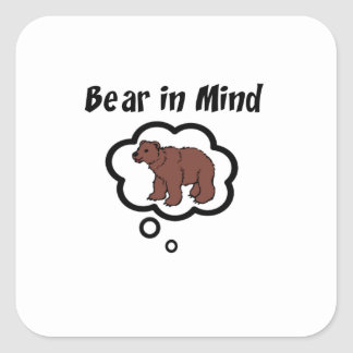 Bear in Mind Square Sticker