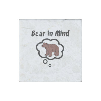 Bear in Mind Stone Magnet
