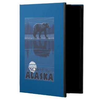 Bear in Moonlight - Anchorage, Alaska Cover For iPad Air