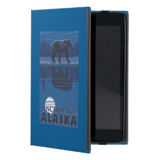 Bear in Moonlight - Anchorage, Alaska Cover For iPad Mini