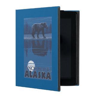 Bear in Moonlight - Anchorage, Alaska iPad Folio Case