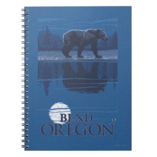 Bear in Moonlight - Bend, Oregon Note Books