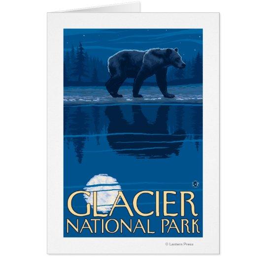 Bear in Moonlight - Glacier National Park, MT Card