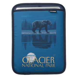 Bear in Moonlight - Glacier National Park, MT Sleeve For iPads