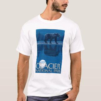 Bear in Moonlight - Glacier National Park, MT T-Shirt