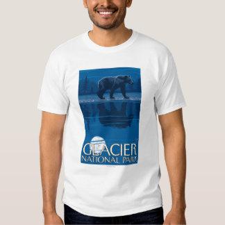 Bear in Moonlight - Glacier National Park, MT Tshirt