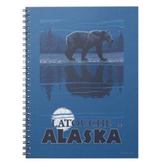 Bear in Moonlight - Latouche, Alaska Spiral Note Book