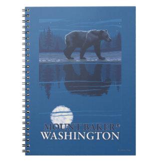 Bear in Moonlight - Mount Baker, Washington Notebook