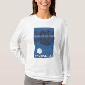 Bear in Moonlight - Mount Baker, Washington T-Shirt
