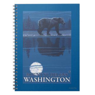 Bear in Moonlight - Mount St. Helens, Note Books