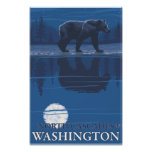 Bear in Moonlight - North Cascades, Washington Posters