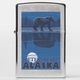 Bear in Moonlight - Petersburg, Alaska Zippo Lighter