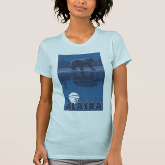 Bear in Moonlight - Sitka, Alaska T-Shirt