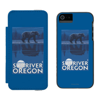 Bear in Moonlight - Sun River, Oregon Incipio Watson™ iPhone 5 Wallet Case