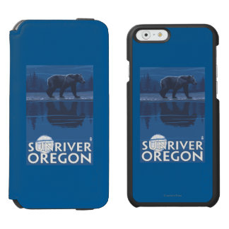 Bear in Moonlight - Sun River, Oregon Incipio Watson™ iPhone 6 Wallet Case