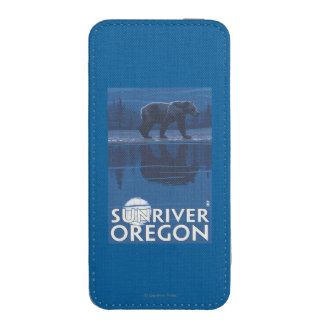 Bear in Moonlight - Sun River, Oregon iPhone 5 Pouch
