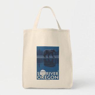 Bear in Moonlight - Sun River, Oregon Tote Bag