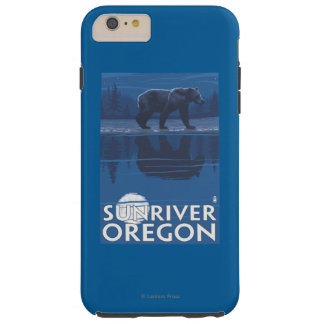 Bear in Moonlight - Sun River, Oregon Tough iPhone 6 Plus Case