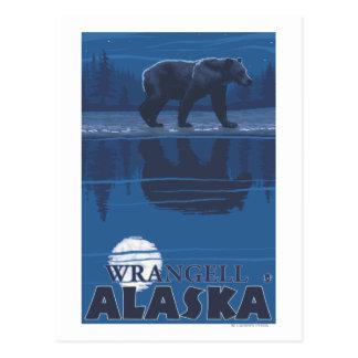 Bear in Moonlight - Wrangell, Alaska Postcard