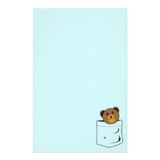 Bear in pocket stationery