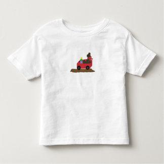 Bear in Red Wagon Tee Shirt