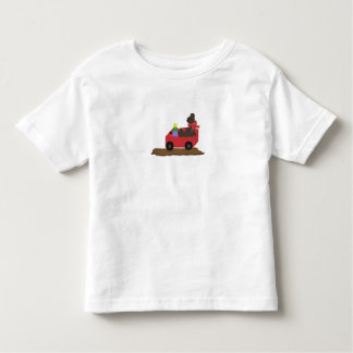 Bear in Red Wagon Toddler T-shirt