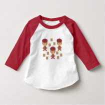 BEAR IN SCOTTISH OUTFIT AND RECTANGLE PATTERN T-Shirt