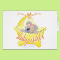Bear in Star Baby Sister Tshirs and Gifts Card