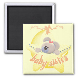 Bear in Star Baby Sister Tshirs and Gifts Fridge Magnets