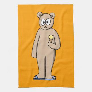 Bear in Summer Kitchen Towel