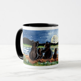 """Bear in the Moon"" Black Bears Watching the Moon Mug"