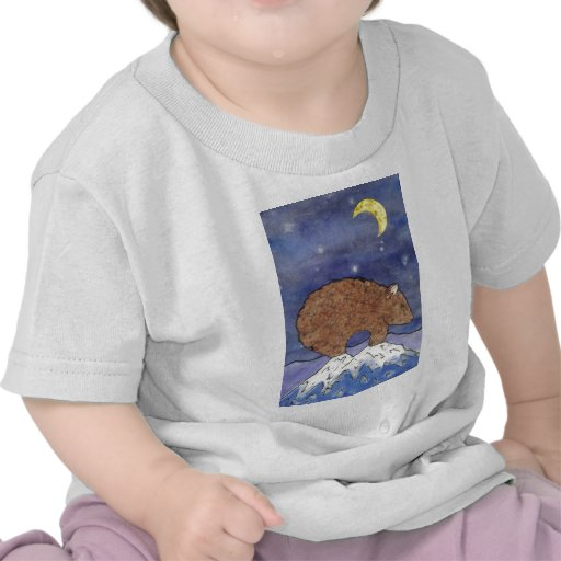bear in the moon light t shirt