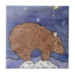 bear in the moon light tile