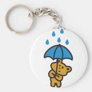 Bear in the rain keychain