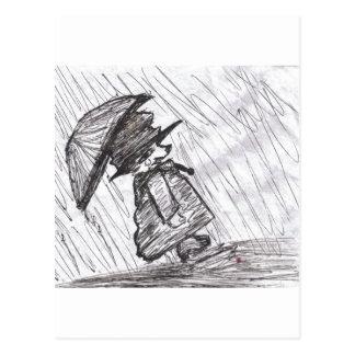Bear in the Rain Postcard