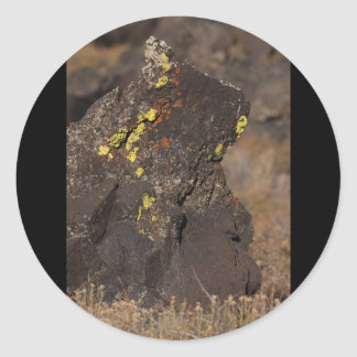 Bear in the Rock Classic Round Sticker