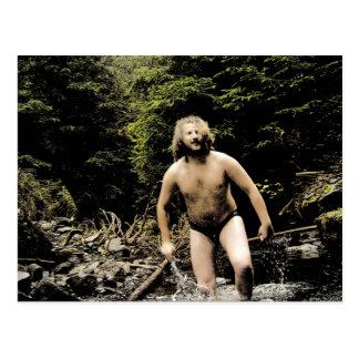 Bear in the Stream Postcard