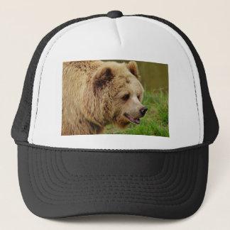 Bear in the wild trucker hat