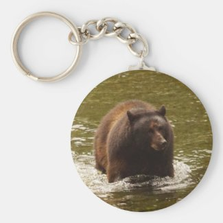 Bear in water key chain